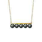balance signature black Necklace