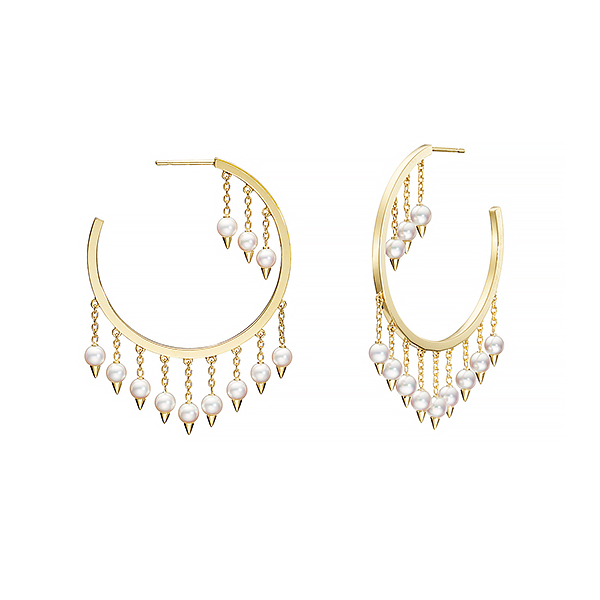 danger fringe Earrings