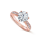 PIACERE Solitaire pavé Ring