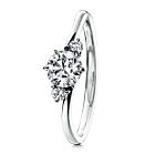 AMABILE Solitaire Wave Ring
