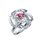 ribbon rose Engagement Ring (pink diamond)