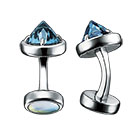refined rebellion blue topaz Cufflinks