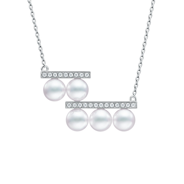 balance step diamonds pave Necklace