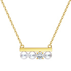 """petit"" balance diamonds solo Necklace"