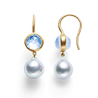 precious moon first lady Earrings (aquamarine)