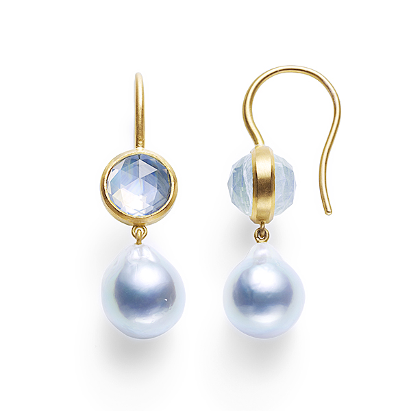 precious moon first lady Earrings (rainbow moonstone)